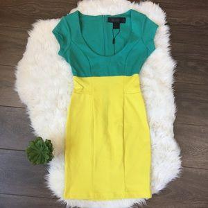 Kardashian Kollection Colorblock Ottoman Dress
